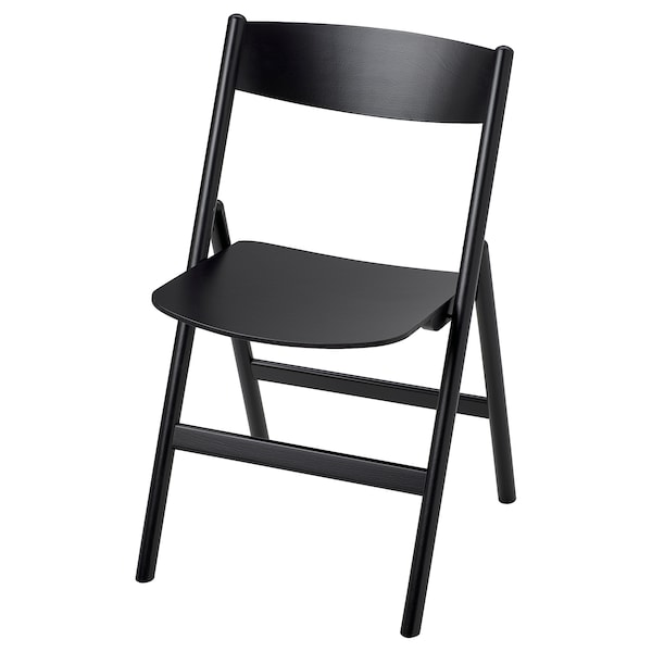RÅVAROR Klappstol, svart