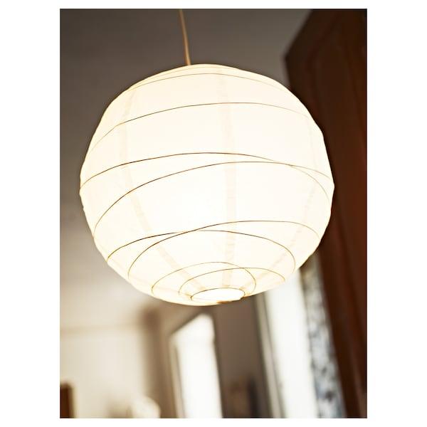 REGOLIT Taklampskärm, vit/handgjord, 45 cm