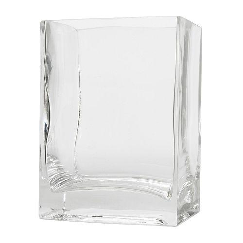 REKTANGEL Vas , klarglas Längd: 10 cm Bredd: 8 cm Höjd: 14 cm