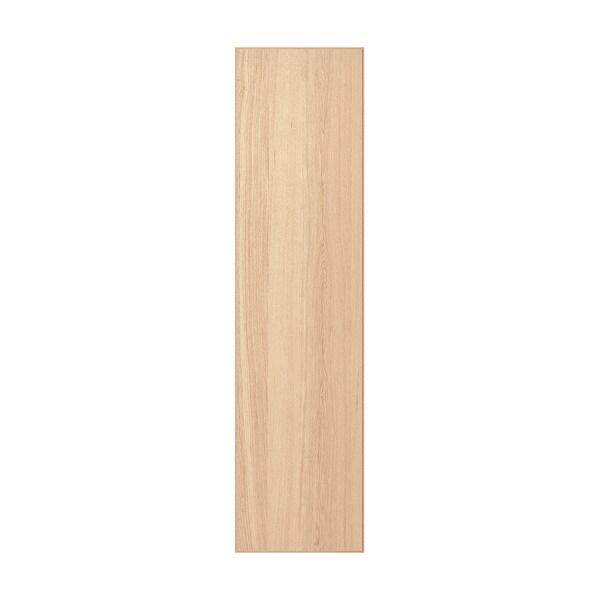 REPVÅG Dörr med gångjärn, vitlaserad ekfaner, 50x195 cm