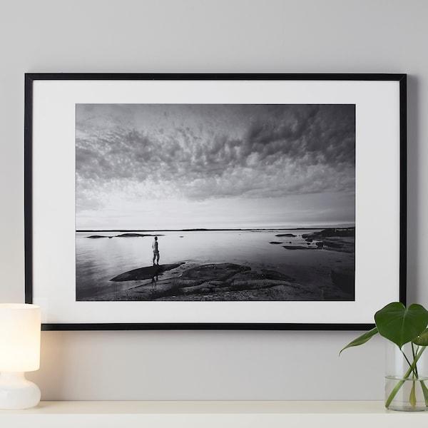 RIBBA Ram, svart, 70x100 cm