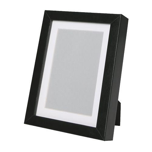RIBBA Ram svart Bredd: 15 cm Höjd: 20 cm Bildbredd: 13 cm Bildhöjd: 18 cm Passepartout innermått B: 9 cm Passepartout innermått H: 14 cm