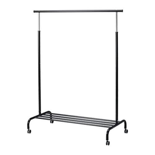 RIGGA Klädställning svart, IKEA