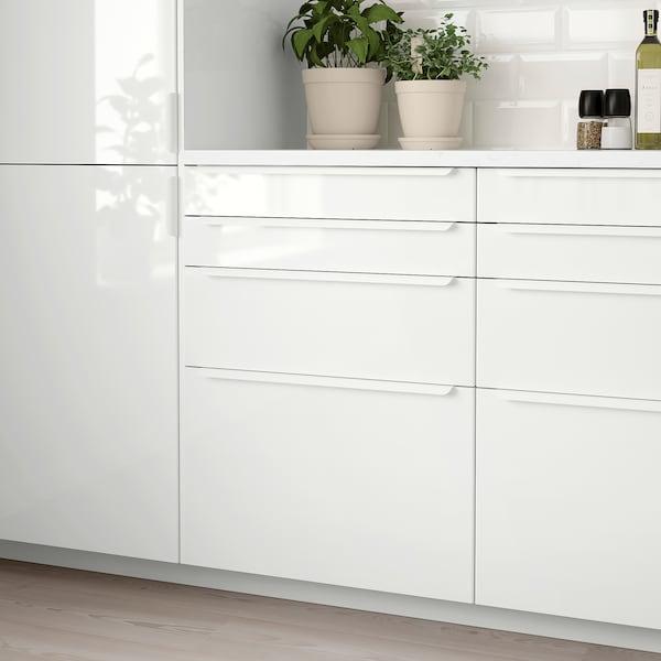 RINGHULT Lådfront, högglans vit, 40x10 cm