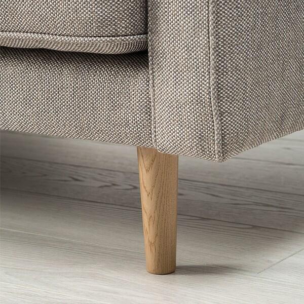 RINGSTORP 4-sitssoffa, med schäslong/grå/beige natur