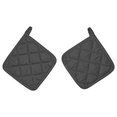 RINNIG Grytlapp, grå, 21x21 cm