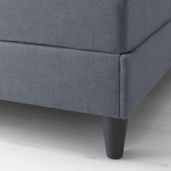 SÄBÖVIK Kontinentalsäng, fast/Vissle grå, 160x200 cm