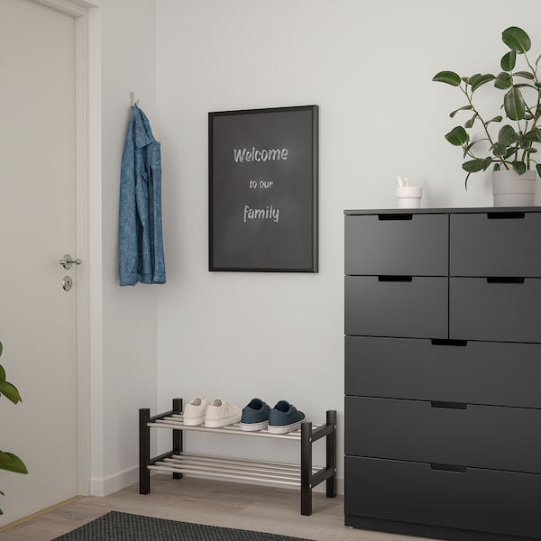 SÄVSTA Anslagstavla, svart, 50x70 cm