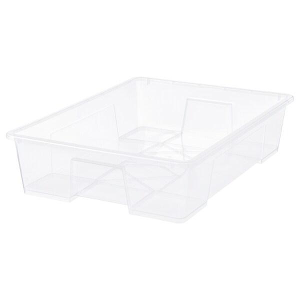 SAMLA låda transparent 78 cm 56 cm 18 cm 55 l