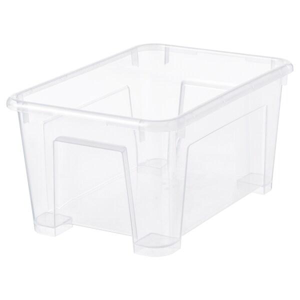 SAMLA låda transparent 28 cm 19 cm 14 cm 5 l