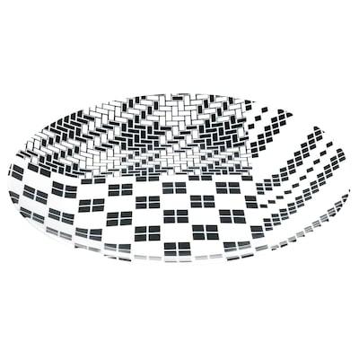 SAMMANKOPPLA Tallrik, vit/svart, 25 cm