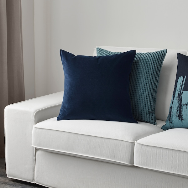SANELA Kuddfodral, mörkblå, 50x50 cm