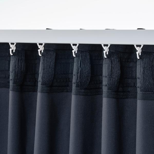 SANELA Rumsförmörkande gardiner, 1 par, mörkblå, 140x250 cm