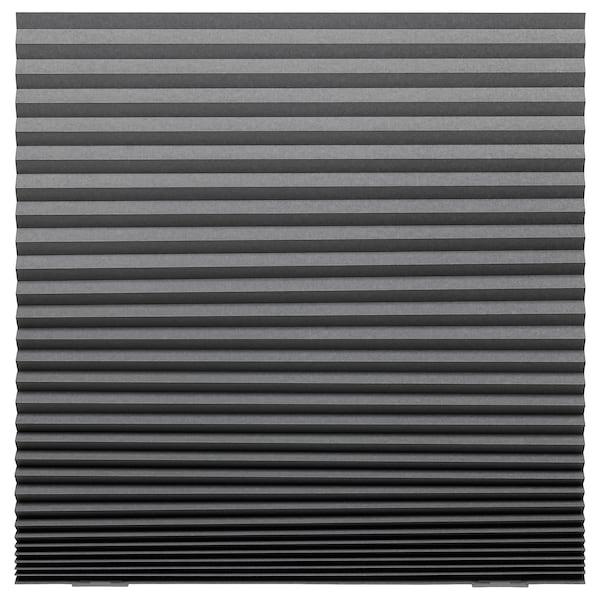 SCHOTTIS Mörkläggande plisségardin, mörkgrå, 100x190 cm