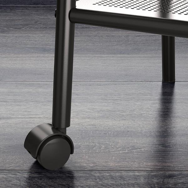 SETSKOG Avlastningsbord, svart, 45x35 cm