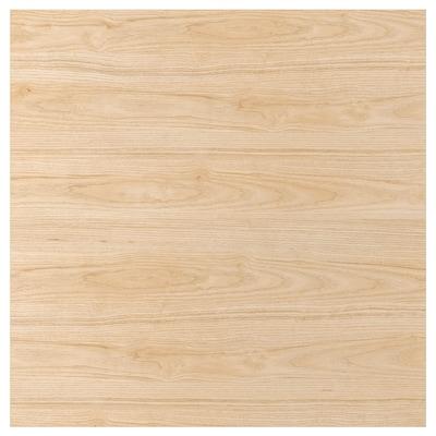 SIBBARP Måttbeställd väggplatta, askmönstrad laminat, 1 m²x1.3 cm
