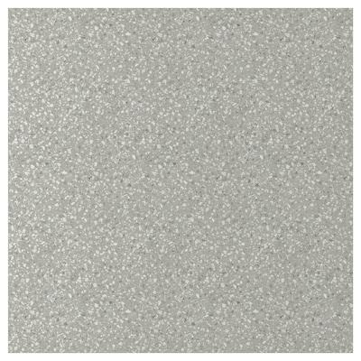 SIBBARP Måttbeställd väggplatta, ljusgrå mineralmönster/laminat, 1 m²x1.3 cm