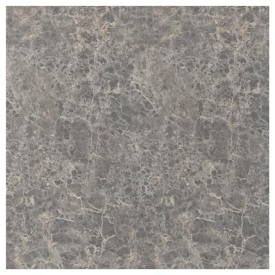 SIBBARP Måttbeställd väggplatta, mörkgrå marmormönstrad/laminat, 1 m²x1.3 cm