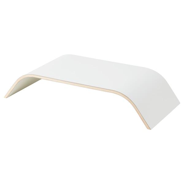 SIGFINN Bildskärmsställ, fast höjd, vit