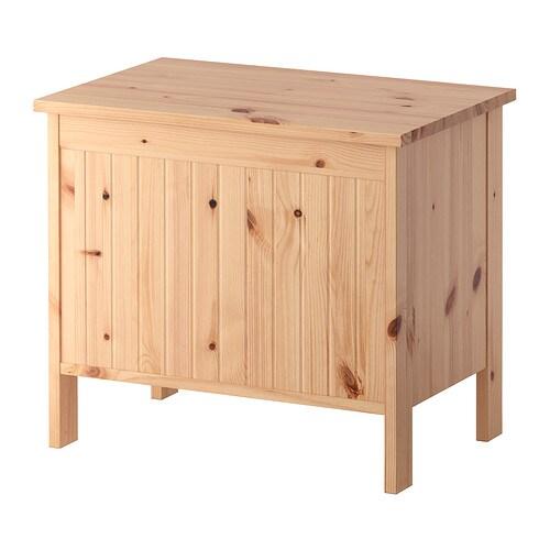 SILVERÅN Bänk med förvaring - ljusbrun - IKEA