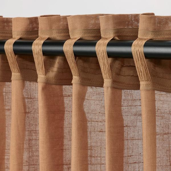 SILVERLÖNN Skira gardiner, 1 par, ljusbrun, 145x250 cm
