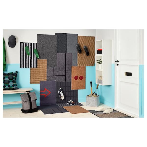 SIVESTED Dörrmatta, mörkgrå, 60x90 cm
