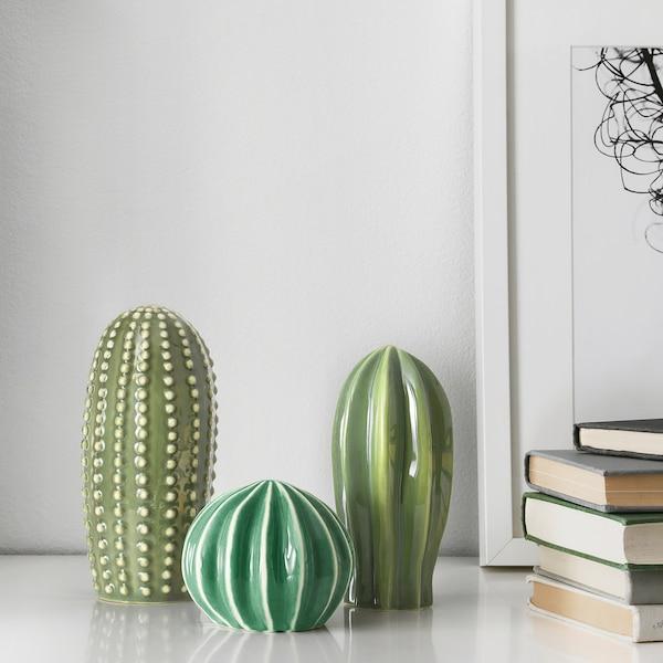 SJÄLSLIGT Dekoration, set om 3, grön IKEA