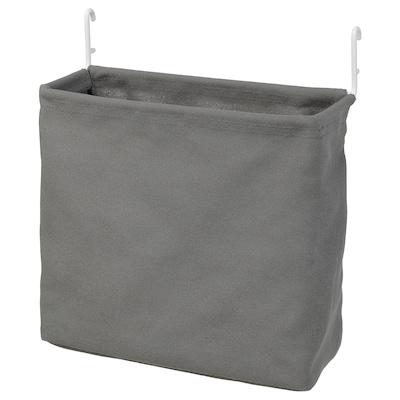 SKÅDIS Förvaringspåse, vit/grå