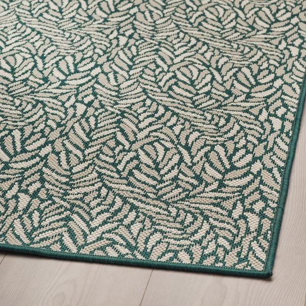 SKELUND Matta slätvävd, inom-/utomhus, grönbeige, 200x250 cm