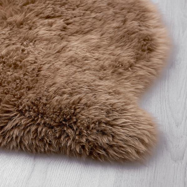 SKOLD Fårskinn, beige, 90 cm