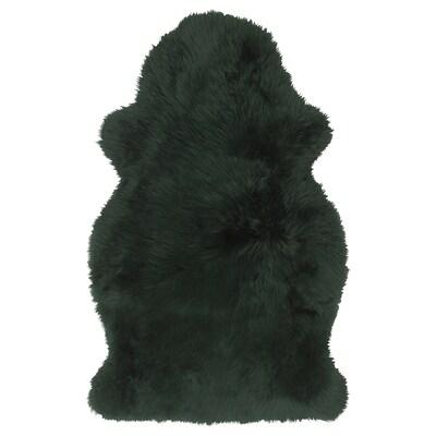 SKOLD Fårskinn, färgat, mörkgrön, 90 cm