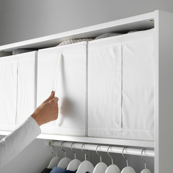 SKUBB Låda, vit, 31x55x33 cm