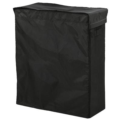 SKUBB Tvättsäck med stativ, svart, 80 l