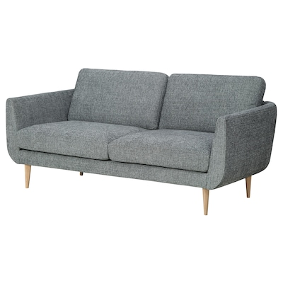 SKULTORP 2-sitssoffa, svart/vit/natur