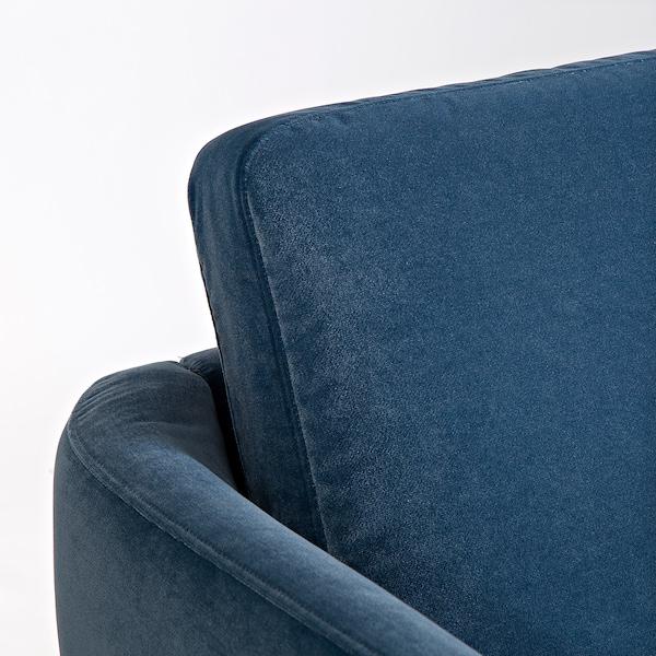 SKULTORP 4-sitssoffa, med schäslong/mörkblå svart