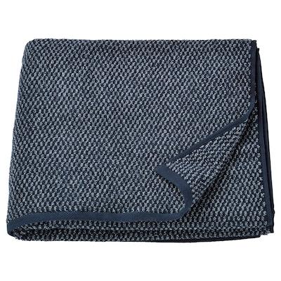 SKUTTRAN Badhandduk, mörkblå/melerad, 70x140 cm
