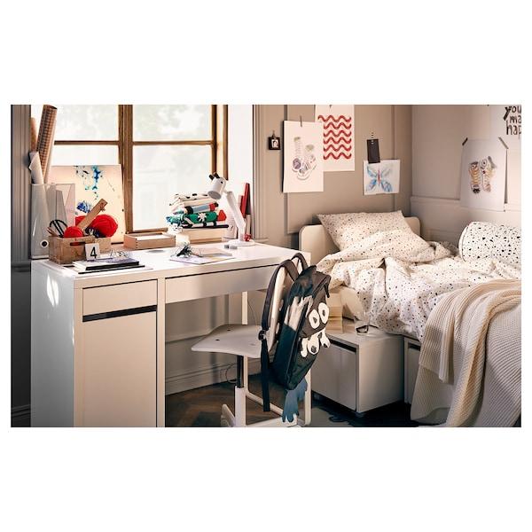SLÄKT Sängram med 3 förvaringslådor, vit, 90x200 cm