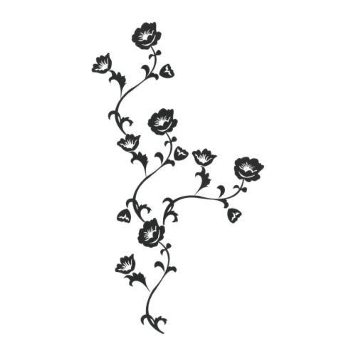 SLÄTTHULT Självhäftande dekoration svart