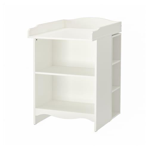 IKEA SMÅGÖRA Skötbord/bokhylla med 2 hyllor