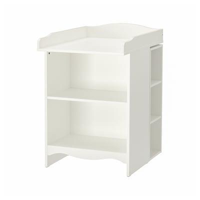 SMÅGÖRA Skötbord/bokhylla med 1 hylla, vit