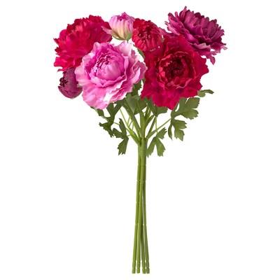 SMYCKA konstgjord bukett inom-/utomhus/Ranunkel rosa 33 cm