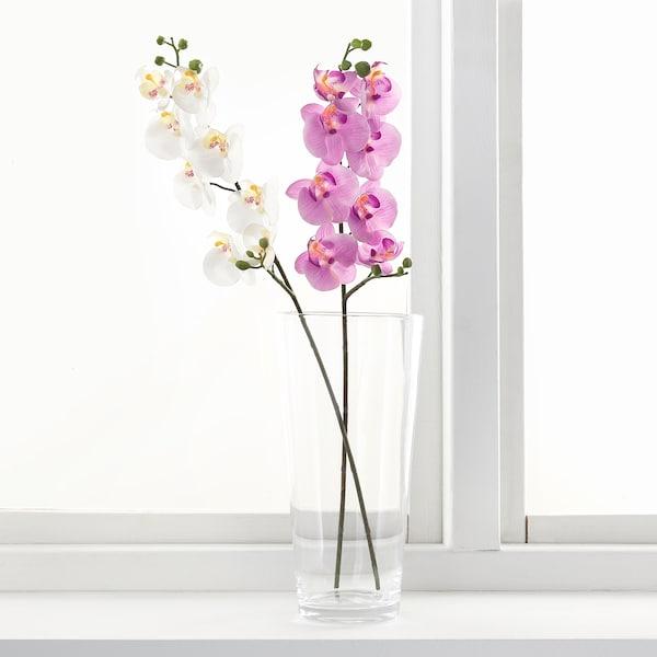 SMYCKA Konstgjord blomma, Orkidé/vit, 60 cm