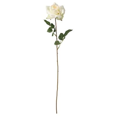 SMYCKA Konstgjord blomma, ros/vit, 75 cm