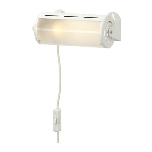 SMYG Vägglampa , vit Bredd: 195 mm Sladdlängd: 250 cm