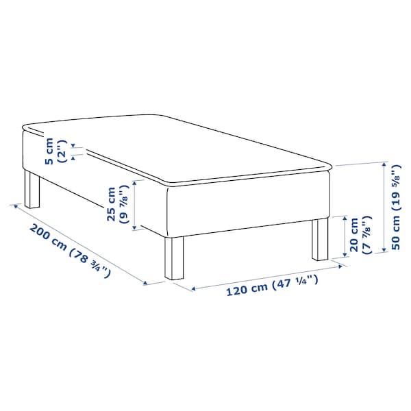 SNARUM Madrass och bäddmadrass, medium fast/Tuddal, 120x200 cm