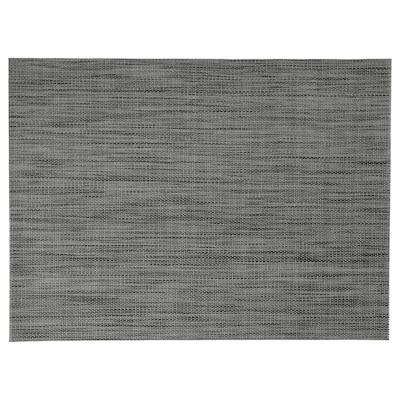 SNOBBIG Tablett, mörkgrå, 45x33 cm