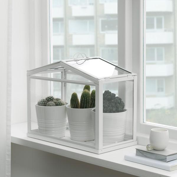 SOCKER växthus vit 45 cm 22 cm 35 cm