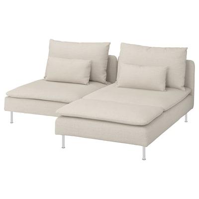 SÖDERHAMN 2-sitssoffa, med schäslong/Gunnared beige