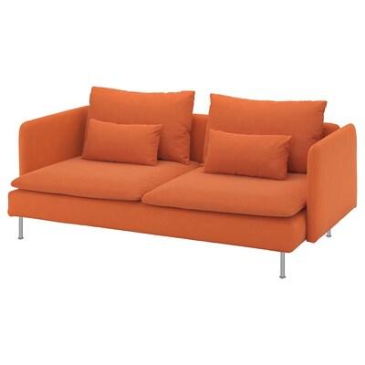 SÖDERHAMN 3-sitssoffa Samsta orange 83 cm 69 cm 198 cm 99 cm 14 cm 6 cm 186 cm 70 cm 39 cm