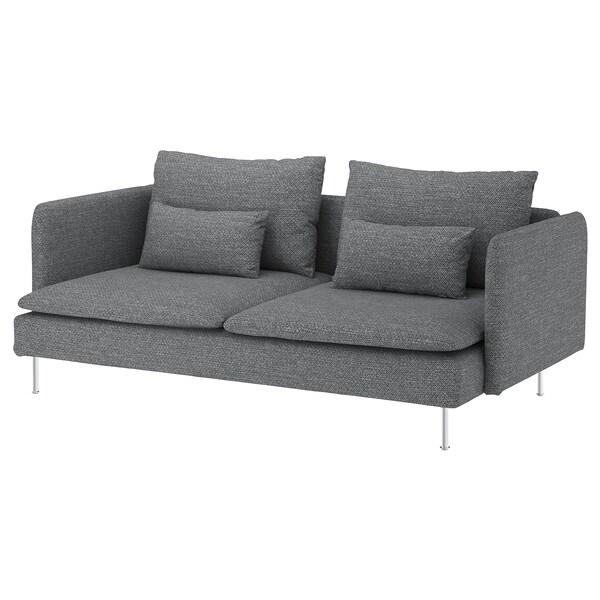 SÖDERHAMN 3-sitssoffa, Lejde grå/svart